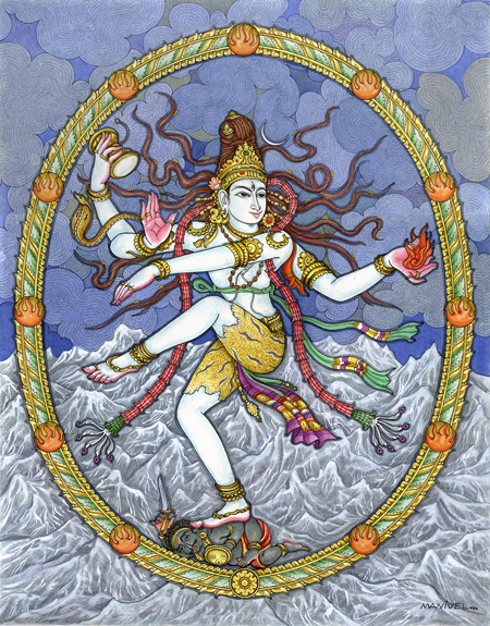 Path of Change shown in the Dance of Shiva